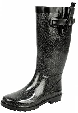 Capelli New York Damen Gummistiefel 'Metallic Glitter' Silver Combo, 37