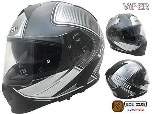 Casque Motocross RX-V288 Ventura Homme ECE HOMOLOGU/É INT/ÉGRAL Enduro Femme Quad Motocross Adulte-Gris XL 61-62 CM