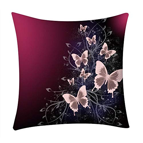 VJGOAL Moda Casual Flores impresión Funda de Almohada sofá Coche Cuadrado cojín Cubierta decoración...