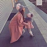 Wildeal 2 pz Set mamma bambino berretto invernale caldo doppio in pelliccia  palla donne ragazze crochet 6980a2125161