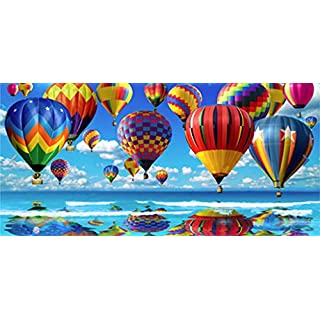 100% Cotton Large Hot Air Balloon Design Beach/Bath/Gym/Swimming Towel 75x150cm