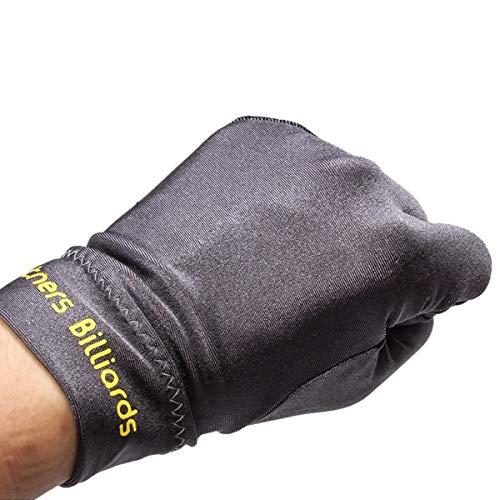 SH-RuiDu Direct Store 1 STÜCK Elastische Spandex Snooker Billardhandschuh Unisex Linke Hand 3 Finger Handschuh für Professionelle Turniere oder Billard Liebhaber (Color : Grey)