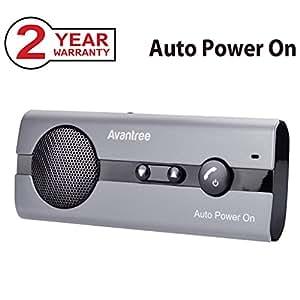 Avantree 10BS - Kit Vivavoce Bluetooth per Auto con Accensione automatica Tramite Sensore di Prossimità e Supporto per Aletta Parasole