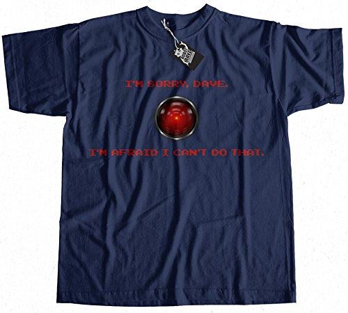 Sorry Dave HAL 9000 T-Shirt 100% Premium Cotton