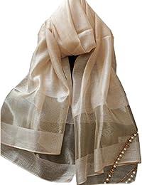 LadyMYP 200×70CM Glamurös & elegant Stola Schale aus 40% Seiden & 50% Kunstbaumwolle & 10% Watkins