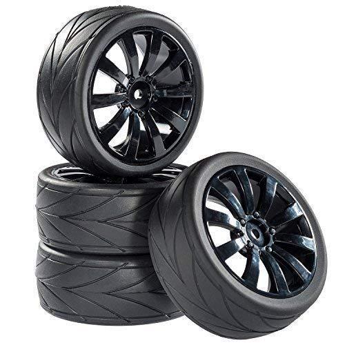 Straßenmodell Reifen Felgenset V-Grip 10 Speichen schwarz 1:10 RC Car partCore 321001 (1 10 Rc-car Reifen)