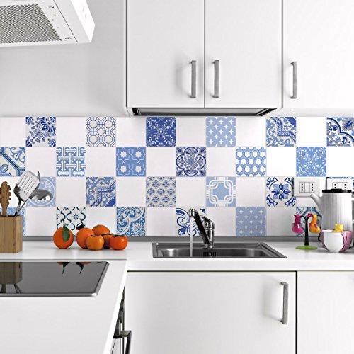 Ambiance-live quadretti di cemento adesivo parete–azulejos–20x 20cm–24pezzi