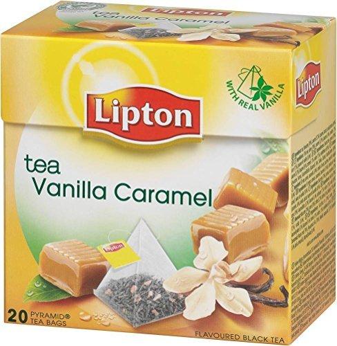 Lipton BLACK TEA VANILLA CARAMEL (Tè Nero Vaniglia Caramello) busta (piramide) tè confezione da 20 x 6 scatole