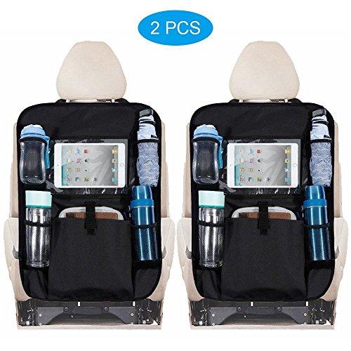 Rovtop 2pcs protezione sedile auto organizer bagagliaio resistente alle macchie impermeabile con tasca auto organizzatori protettore sedile posteriore proteggi sedile per auto per bambini auto sedile