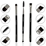 Bestes Augenbrauenpinsel Set - 3 Make Up Augenpinsel