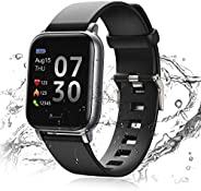 24HOCL Smart Watch Fitness Tracker with Temperature Measurement Heart Rate Monitor 1.3 Inch Single Touch Scree