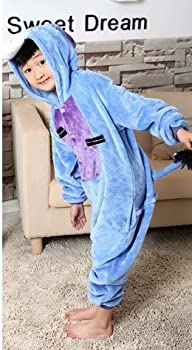 Udreamtime Kids Homewear Sleepsuit Animal Pajamas Halloween Cosplay Costume Donkey L 1
