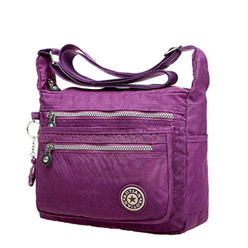 kolylong-womens-girls-waterproof-nylon-leisure-messenger-bags-shoulder-bags-purple