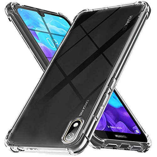 Ferilinso Hülle Kompatibel mit Huawei Y5 2019 / Honor 8S, Ultra [Slim Thin] Kratzfestes TPU Gummi Weiche Haut Silikon Fall Schutzhülle für Huawei Y5 2019 / Honor 8S Hülle (Transparent)