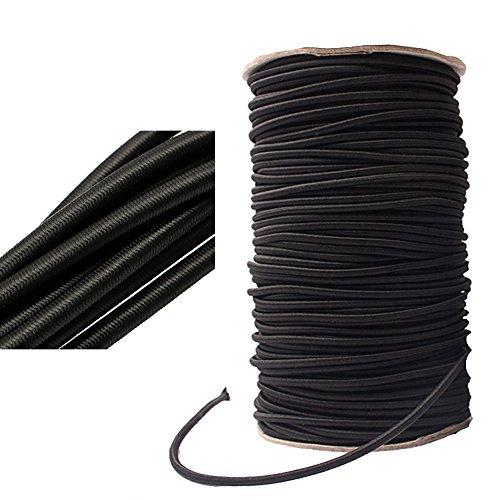 Elastische Kordel, zur Schmuckherstellung, Handtaschen, Zelte, ø 2–12 mm, Schwarz , 4MM x 10Meters (X 10 12 Zelt)