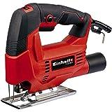 Einhell–Sierra de calar TC-JS 60/1(400W, máx. 60 mm, corte oblicuo de 45°, control electrónico de velocidad, agarre suave, adaptador de extracción)