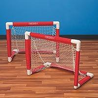 S&S Worldwide W11585 - Juego de portería de hockey (PVC, 2 unidades)