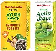 Baidyanath Ayush Kwath - 60 Tablets & Baidyanath Amla Juice - Rich in Vitamin C and Natural Immunity Boost