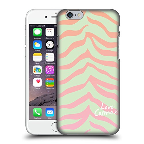 Official Cosmopolitan Mint Flowers Pastels Hard Back Case for Apple iPhone X Ombre Zebra
