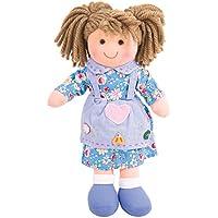 """Bigjigs Toys Grace Doll 28cm (11"""") - Ragdoll Cuddly Toy"""