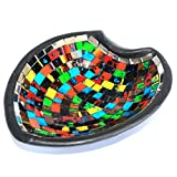 Moroccan Themed Heart Mosaic Potpourri Decorative Dish / Bowl (Large)
