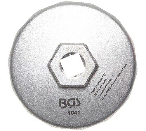 BGS 1041 Ölfilterkappe aus Aluminium-Druckguss, 74 mm x 14-kant Test