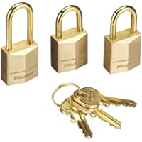 Master Lock 3115EURD Set Lucchetti, Apertura a Chiave Unica, 15