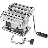 Navaris Máquina Manual para Hacer Pasta casera - Máquina cortadora de Pasta para Hacer tallarines y lasaña - para 9 grosores Diferentes de Pasta