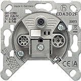 Jung EDA302F 3-Loch Universal SAT/BK-Dose/Einzeldose