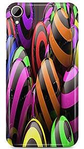 PCM High Quality Printed Designer Polycarbonate Hard Back Cover for HTC Desire 830 - Matte Finish - Color Warranty - 0614