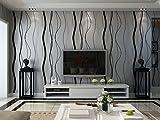 schwarzgrau moderne schlichte elegente umweltfreundliche Linie Muster seidenfaden Vliestapete Wandetapete fuer Wohnzimmer,Schlafzimmer,Hintergrund