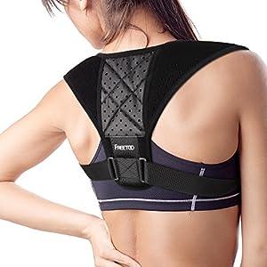 FREETOO Geradehalter Haltungskorrektur Posture Korrektor atmungsaktive Haltungsbandage mit verstellbare Größe für Damen Herren Mädchen und Junge