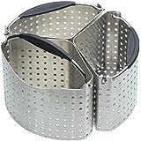 KitchenCraft MasterClass - Cestelli divisori in acciaio INOX per pentole, 20cm, set di 3