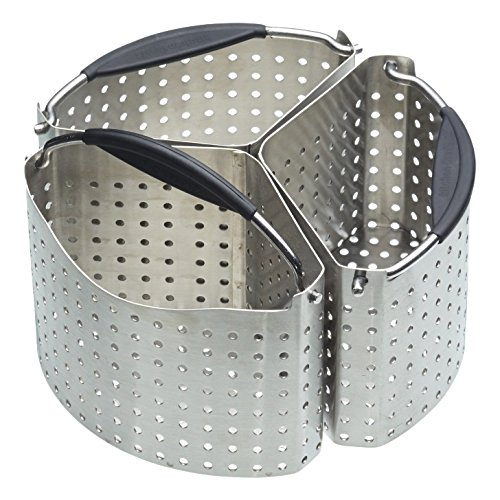 MasterClass Stainless Steel Saucepan Divider Baskets, Metallic, 20 cm, Set of 3
