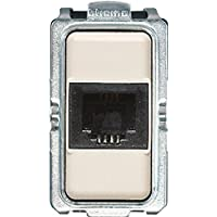 Bticino s5982F Serie Magic Conector telefónico a 2Pares RJ11, Marfil