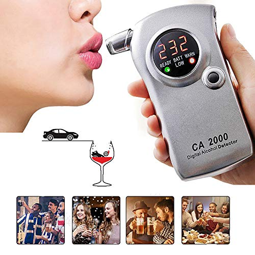 YXYXN Probador De Alcohol, AlcoholíMetro, Nuevo Medidor De Alcohol Sensible Digital LCD 2019, Analizador...