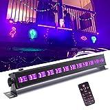 UV Beleuchtung, UKing Schwarzlicht LED mit 12 x 3W UV LED Bar Lichteffekte mit Fernbedienung Partylicht für DJ Disco Karneval Halloween und Weihnachten Bühnenbeleuchtung …