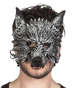 Boland 97516mezzo-viso máscara de hombre lobo de hombre lobo, gris, talla única