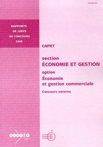 CAPET section Economie et Gestion option Economie et gestion commerciale : Concours externe