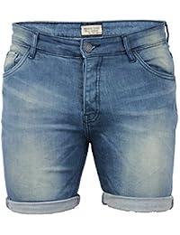 Jeans Hommes Décoloré Roulé Court By Brave Soul