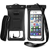 O RLY Funda Impermeable Bolsa Armband & Audio Auriculares Headphone Jack for iPhone 6, 6 Plus, 6s, 6s Plus, 5s, Samsung Galaxy S8 S9 Note, TPU Pouch & IPX8 Certified (Negro)