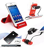 Riona Mobile holder A5S Red + Hanger Stand + Cable Organizer + Scratch Guard ... A5SR-C best price on Amazon @ Rs. 546