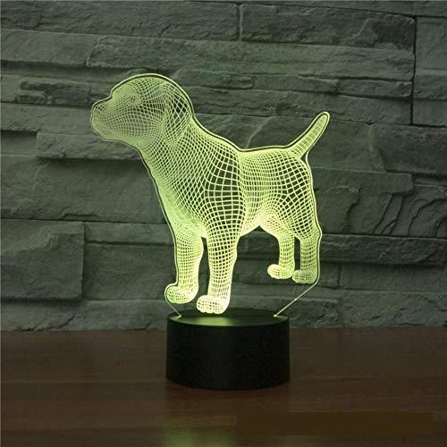 Neuheit Elektronische 3D Lampe Produkte 7 Farbige Nachtlicht Energiesparlampe Großhandel Kreative Geschenk 3D Leuchten Fernbedienung (Perlen Neuheit Großhandel)