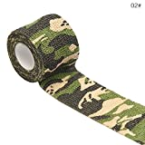 WANGLAI 2,5cm x 4,5m Camouflage Vlies selbstklebend Bandage–Erste Hilfe Medical Wrap Elastic Wasserdicht Bandagen, 2, 2.5CM X 4.5M