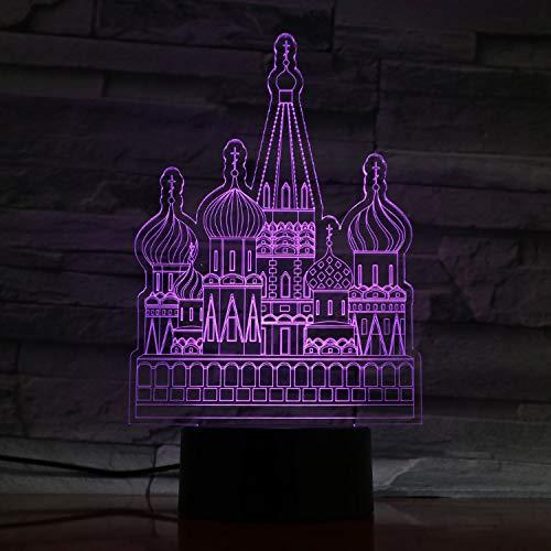 Castle 3D Led Nachtlicht Methacrylat Platte Handwerk 7 Farben Ändern Tischlampe Dekoration Beleuchtung Usb Lampe