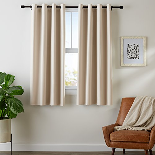 AmazonBasics Room-Darkening Blackout Curtain Set with Grommets