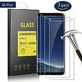 Alfort [3 Pezzi] Pellicola Protettiva Samsung S8 Plus, Proteggi Schermo 9H Durezza Ultra-Sottile Ultra-Trasparente Ultra Resistente Impermeabile Vetro Temperato Screen Protector Nessuna Bolla