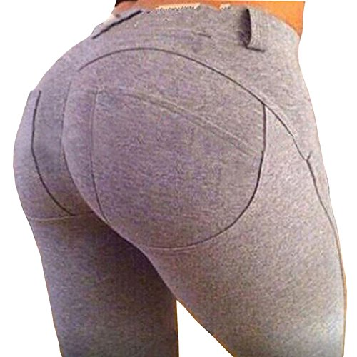 ZEARO Damen Elegant Elastische Leggings Stretchy Hosen Push Up Hüfte Leggings Butt Lift Pants Casual Skinny Jeans