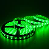 MTC 5 Meter Waterproof And Cuttable LED Strip/Cove Light 5050 With Adapter - Green Color