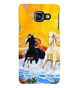 Horse Running in water 3D Hard Polycarbonate Designer Back Case Cover for Samsung Galaxy A3 :: Samsung Galaxy A3 Duos :: Samsung Galaxy A3 A300F A300FU A300F/DS A300G/DS A300H/DS A300M/DS